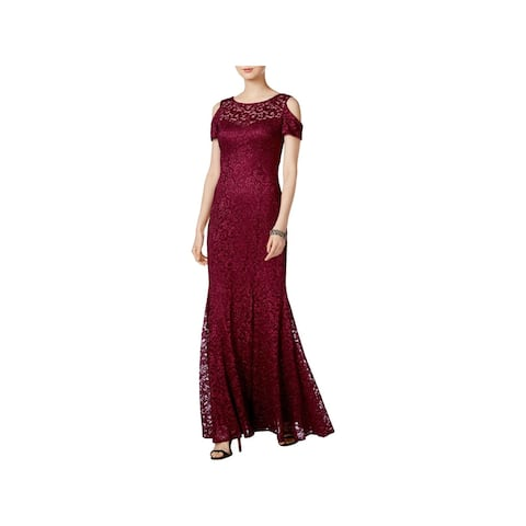 4b3cf298413 R   M Richards Womens Evening Dress Cold Shoulder Full-Length