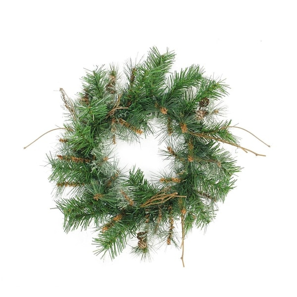 "24"" Country Mixed Pine Artificial Christmas Wreath - Unlit - green"