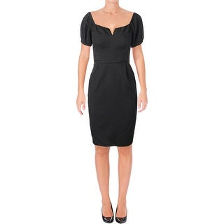 Nanette Lepore Womens Audrey Special Occasion Dress Short Sleeves Above Knee