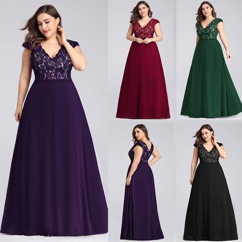 Ever-Pretty Women's Plus Size Long Formal Evening Dress 73442