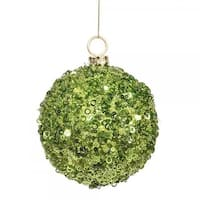 Vickerman P797323 4.75 in. Lime Jewel Ball with String