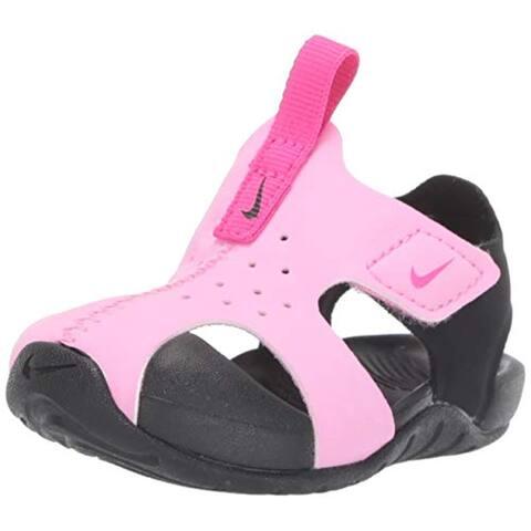 Nike Boy's Sunray Protect 2 (TD) Toddler Sandal Psychic Pink/Laser Fuchsia/Black Size 6 M US