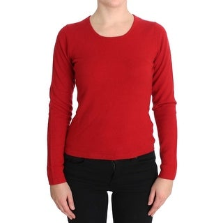 MILA SCHÖN MILA SCHÖN Red Cashmere Crewneck Pullover Sweater