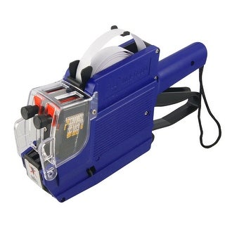 Unique Bargains Blue Plastic Shell Handheld Dual Rows Shop Price Labeller Labeler Tag Gun