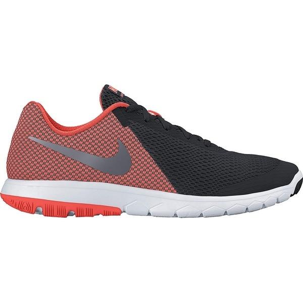 5480db518f9c2 Nike Flex Experience Rn 6 Black Metallic Hematite Hyper Orange White Mens  Running