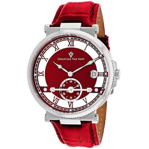 Christian Van Sant Men's Clepsydra Red Dial Watch - CV1706 - One Size