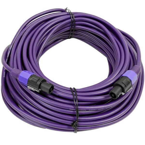 SEISMIC AUDIO 12 Gauge 100 Foot Purple Speakon to Speakon Speaker Cable 100'