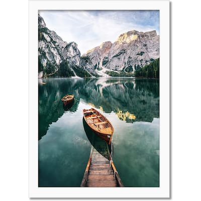 """Americanflat Poster Frame in White Wood -Horizontal and Vertical Formats -12"""" x 18"""""""