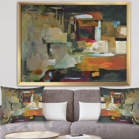 Designart 'Cubist Composition I' Modern & Contemporary Framed Art Print