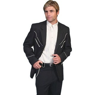 Scully Western Blazer Mens Button Front Solid Contrast Piping
