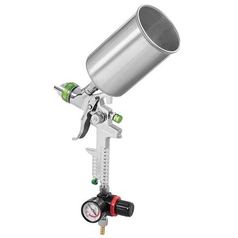 Costway 2.5mm Tip HVLP Air Spray Gun Kit Gravity Feed Auto Paint Primer w/ Air Regulator