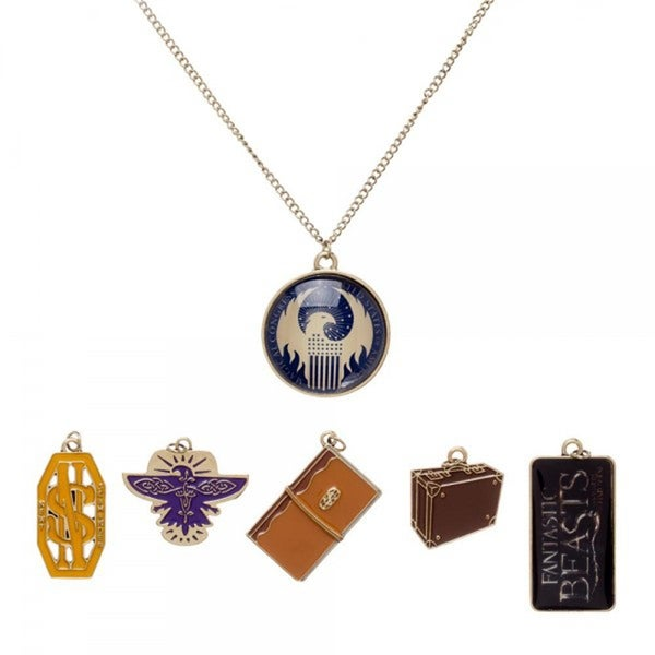 Fantastic Beasts And Where To Find Them 6-Piece Charm Necklace - multi
