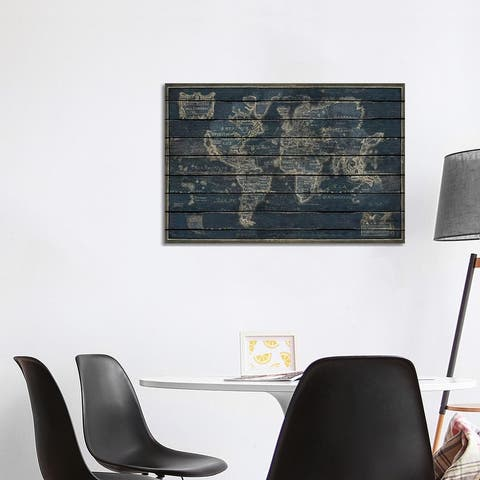 """iCanvas """"Mappe Monde"""" by Diego Tirigall Canvas Print"""