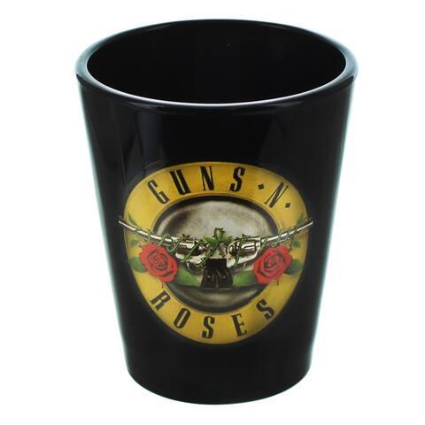 Guns N Roses Logo 2oz Black Shot Glass