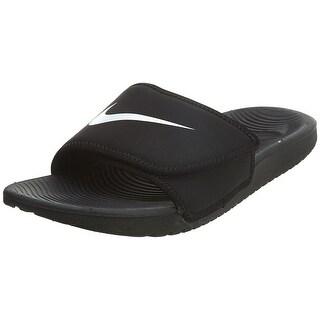 NIKE Kids' Kawa Slide Sandal, Black, 5 M US Big Kid