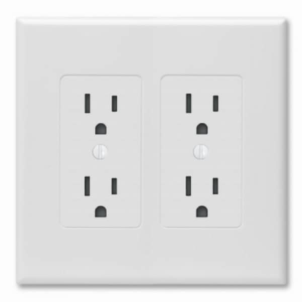 Shop Taymac 2602w Decorator Wall Plate Cover White 2 Gang Free