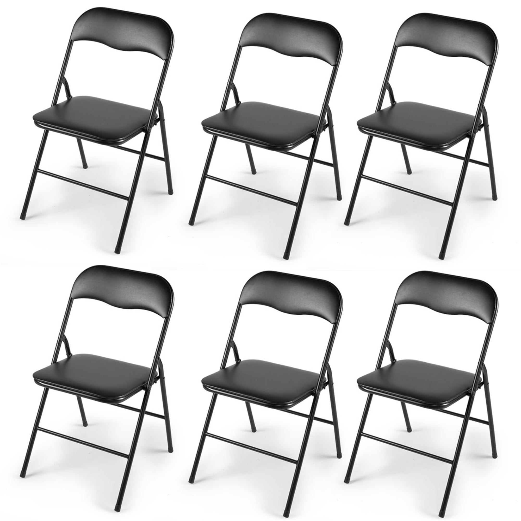 6 Pcs Plastic Folding Chairs Wedding Party Banquet Seat Set Stools On Sale Overstock 31706341