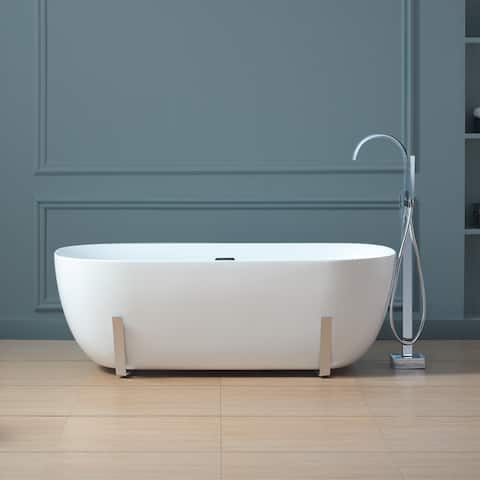 OVE Decors Gianna 63 in. White Freestanding Bathtub