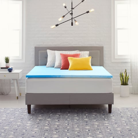 "Comfort Revolution Originals 1.5"" Gel-Infused Memory Foam Mattress Topper"