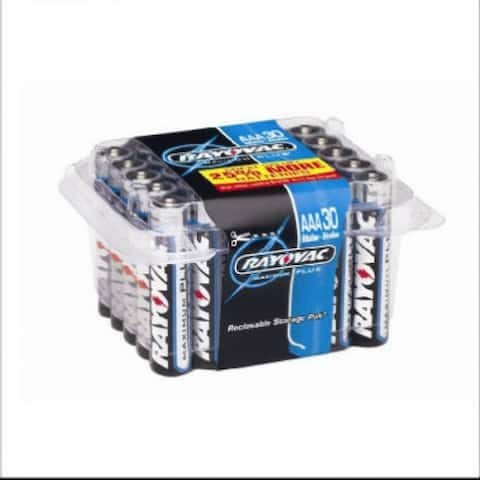 Rayovac 824-30 AAA-Cell Alkaline Battery, 30 Pack