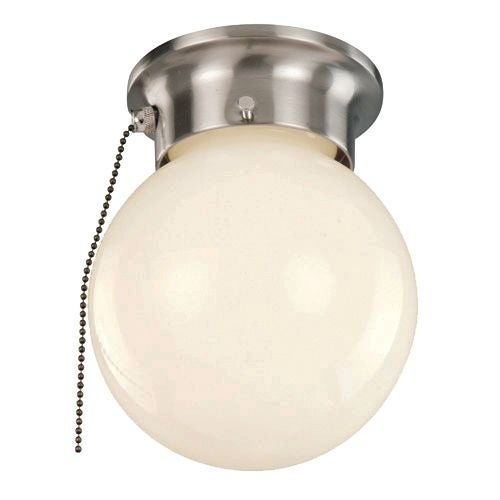 Trans Globe Lighting 3606p 1 Light Flush Mount Pull Chain Ceiling Fixture