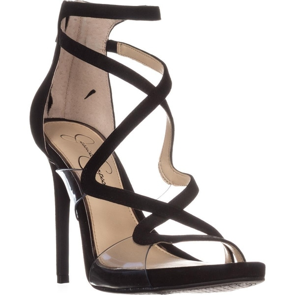 Jessica Simpson Roelyn Heeled Strappy Sandals, Black