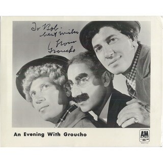 Signed Marx Grouch BW 8x10 Promo Photo P To Bob autographed