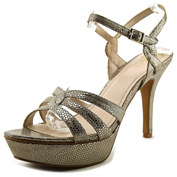 Vince Camuto Princey Women  Open Toe Leather Gold Platform Sandal