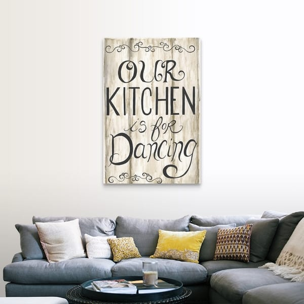 Kitchen Is For Dancing Canvas Wall Art On Sale Overstock 25618883