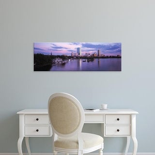 Easy Art Prints Panoramic Images's 'Back Bay Boston MA' Premium Canvas Art