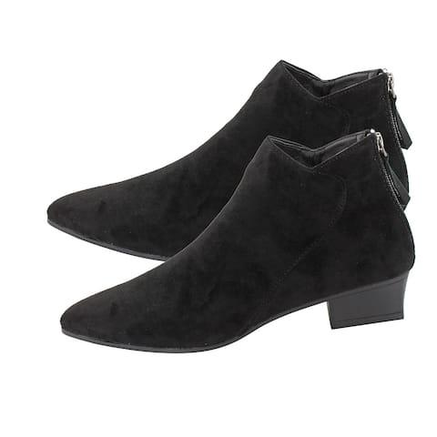 Seven7 Black Kelsey Booties Anti Slip Foam Footbed Pointed Toe-Size 10