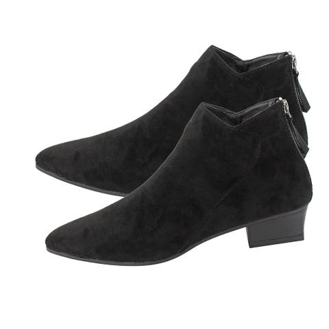 Seven7 Black Kelsey Booties Anti Slip Foam Footbed Pointed Toe-Size 11