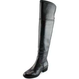 Vince Camuto Baldwin Women Round Toe Leather Black Over the Knee Boot