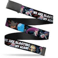 Blank Black  Buckle Team Rocket & Pokemon We Are Blasting Off Again! Web Belt