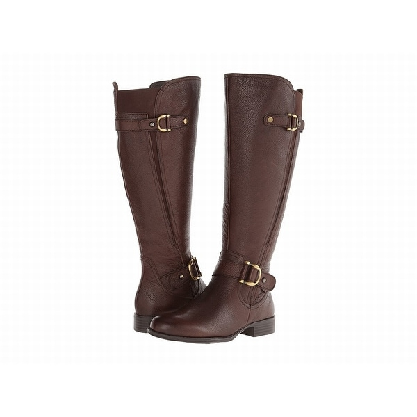 Naturalizer Brown Shoes 5M Knee-High Jersey Leather Boots
