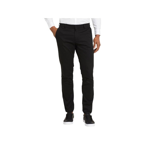 f5acf5c11b Shop Calvin Klein Mens Casual Pants Slim Fit Jogger Black 33/30 - Free  Shipping On Orders Over $45 - Overstock - 22581268