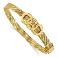 Italian 14k Gold Buckle Bracelet - 7 inches