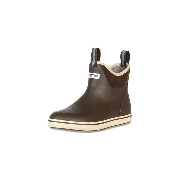 """Xtratuf Men's 6"""" Brown Ankle Deck Boots w/ Full Rubber Construction - Size 12"""