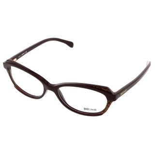Just Cavalli JC0460/V 071 Brown & Gold Rectangle Optical Frames - brown & gold - 54-16-140