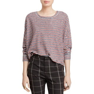 Free People Womens Pullover Sweater Striped Oversized