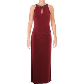 Lauren Ralph Lauren Womens Petites Danae Evening Dress Embellished Formal