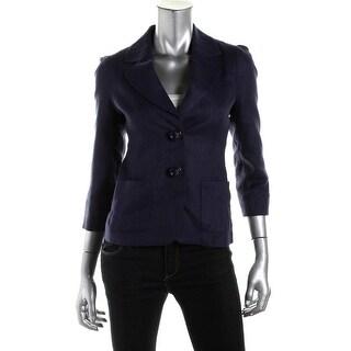Kate Spade Womens Alix Linen 3/4 Sleeve Blazer - 8