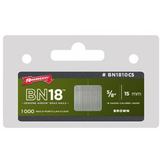 Arrow Fastener BN1810CS Brown Brad Nails, 5/8, 1000-Pack