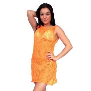 Women's Beach Dress Cover Up Spider Tank Beach Swimwear Pareo Bikini Sheer