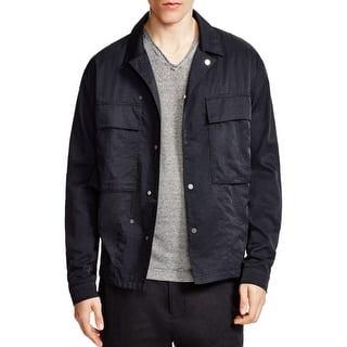 Vince NEW Solid Black Mens Size Small S 2-Pocket Twill Shirt Jacket|https://ak1.ostkcdn.com/images/products/is/images/direct/09333a359966f01c1e6fd418e860c060ba1a8e30/Vince-NEW-Solid-Black-Mens-Size-Small-S-2-Pocket-Twill-Shirt-Jacket.jpg?impolicy=medium