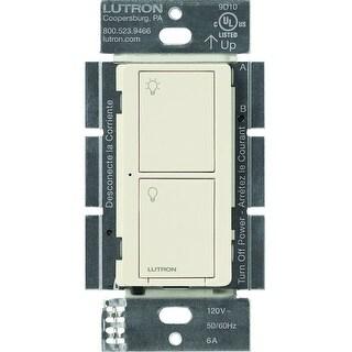 Lutron Caseta Wireless Smart Lighting Switch for Lights and Fans (Light Almond) - White