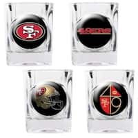 """Great American Products San Francisco 49Ers Shot Glass Set 4pc Collectors Shot Glass Set"""