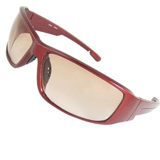 Burgundy Plastic Full-rim Nose Pad Unisex Sunglasses