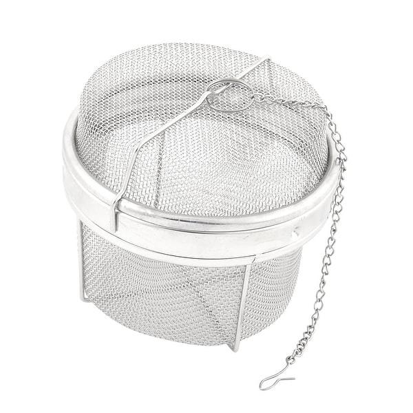 Unique Bargains Stainless Steel Wire Mesh Twist Locking Sphere Ball Spice  Tea Strainer 11cm Dia