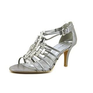 Bandolino Magei Women Open-Toe Synthetic Silver Heels